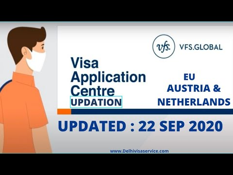 VFS Global India Latest Updates For 22-Sep-2020 PART -- 1 | News On VFS Opening For Visa Application