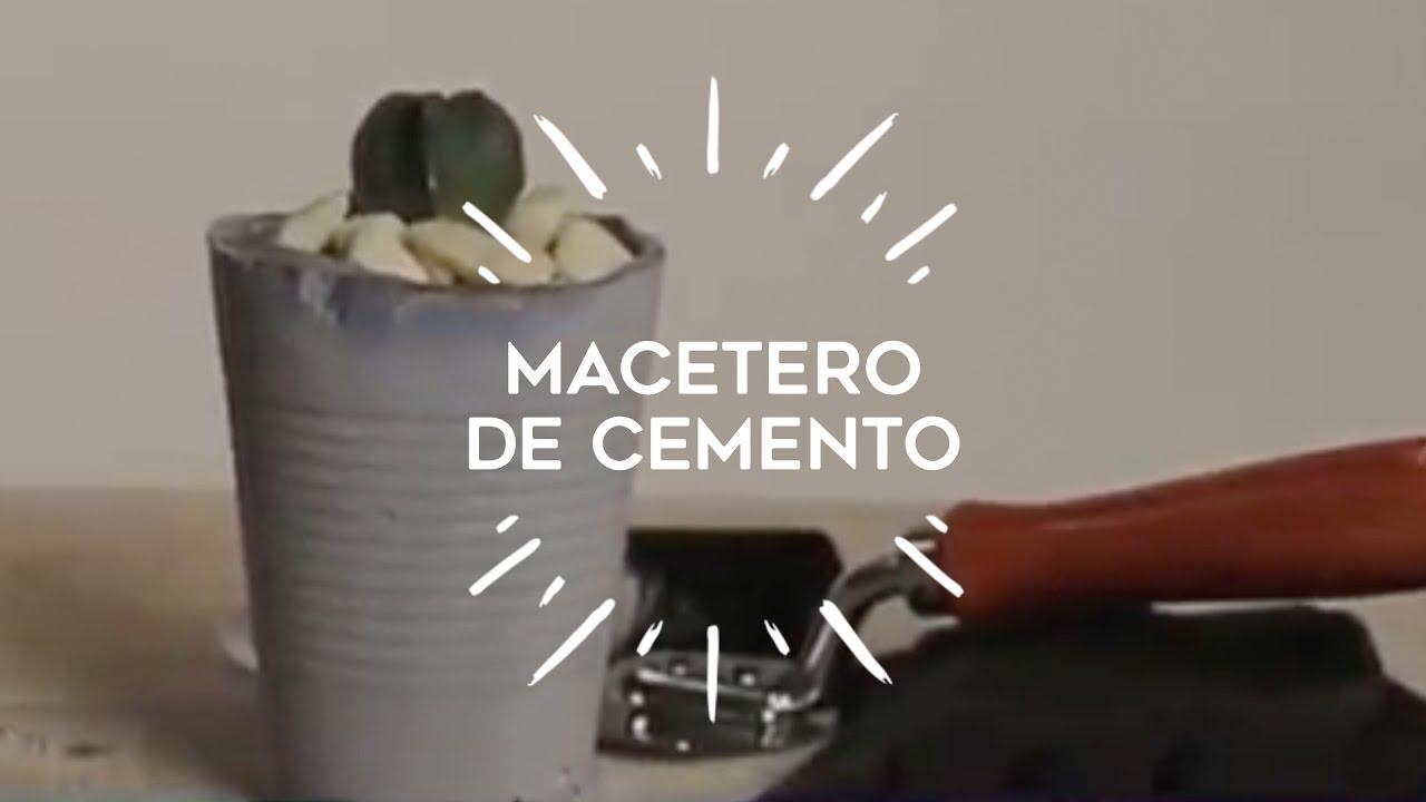 C mo hacer originales maceteros de cemento para tus - Maceteros de cemento ...