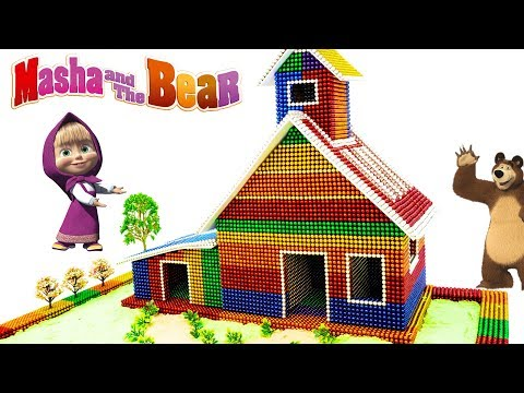 DIY - How To Build Masha And The Bear House From Magnetic Balls (Satisfaction) - Magnet Balls