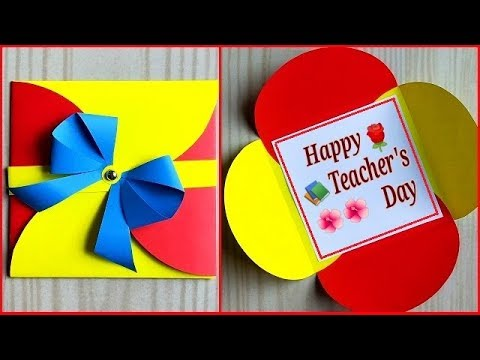 Easy and beautiful teacher's day card handmade / Teachers day card making idea very easy