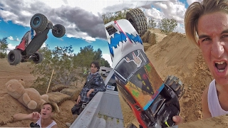 WORLDS BIGGEST RC CAR JUMP! *OVER A TRUCK*