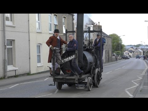 RICHARD TREVITHICK'S PUFFING DEVIL ON TREVITHICK DAY 2017