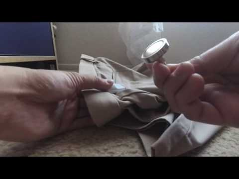 How to remove security tag from clothing