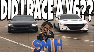 Did I really Just race a v6 Dodge Charger?  ~MUST WATCH~