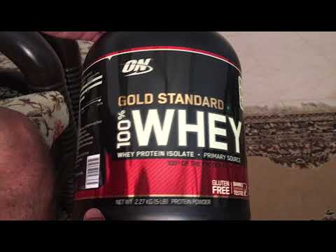 Unboxing ON Gold Standard 100% whey ordered from Healthkart India