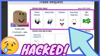 HACKER STOLE $200.000 ROBUX WORTH OF ITEMS FROM MY ROBLOX ACCOUNT! :(