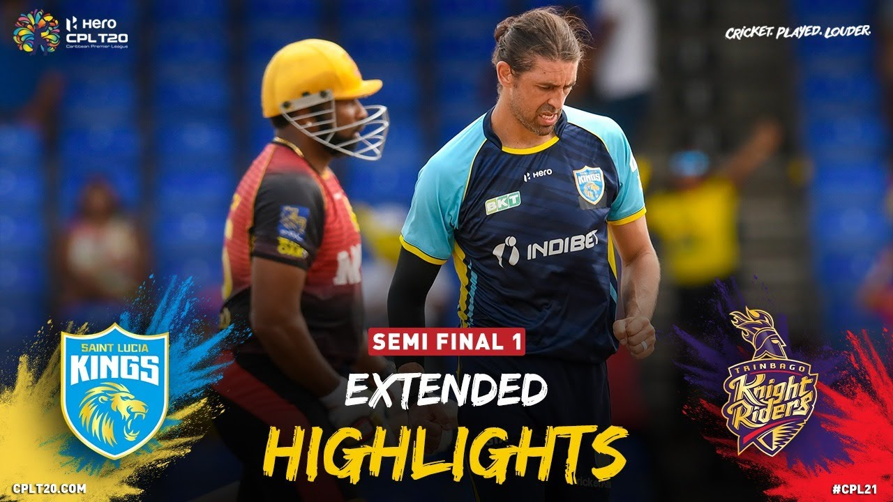 Download Semi Final 1 | Extended Highlights | Trinbago Knight Riders vs Saint Lucia Kings | CPL 2021
