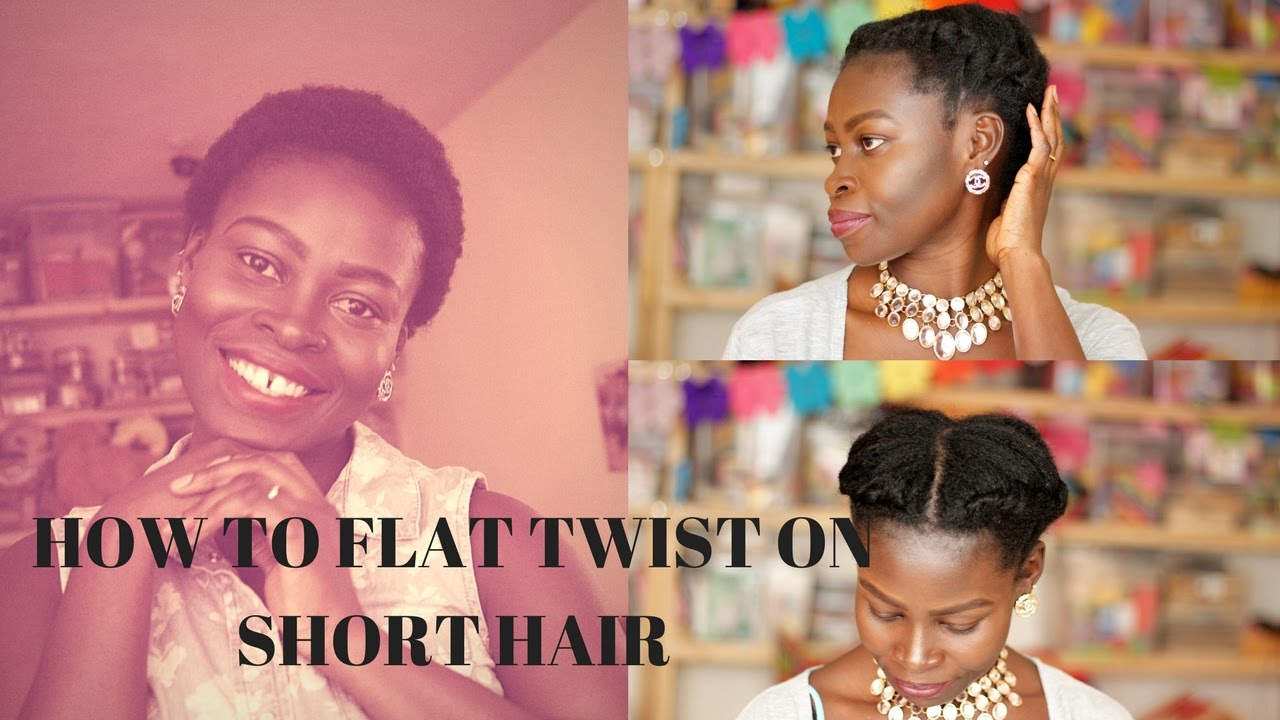 Flat Twist Updo How To Flat Twist On Natural 4c Short Hair Youtube