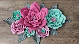 kağıttan dekoratif süs çiçek yapımı/ DİY paper flower