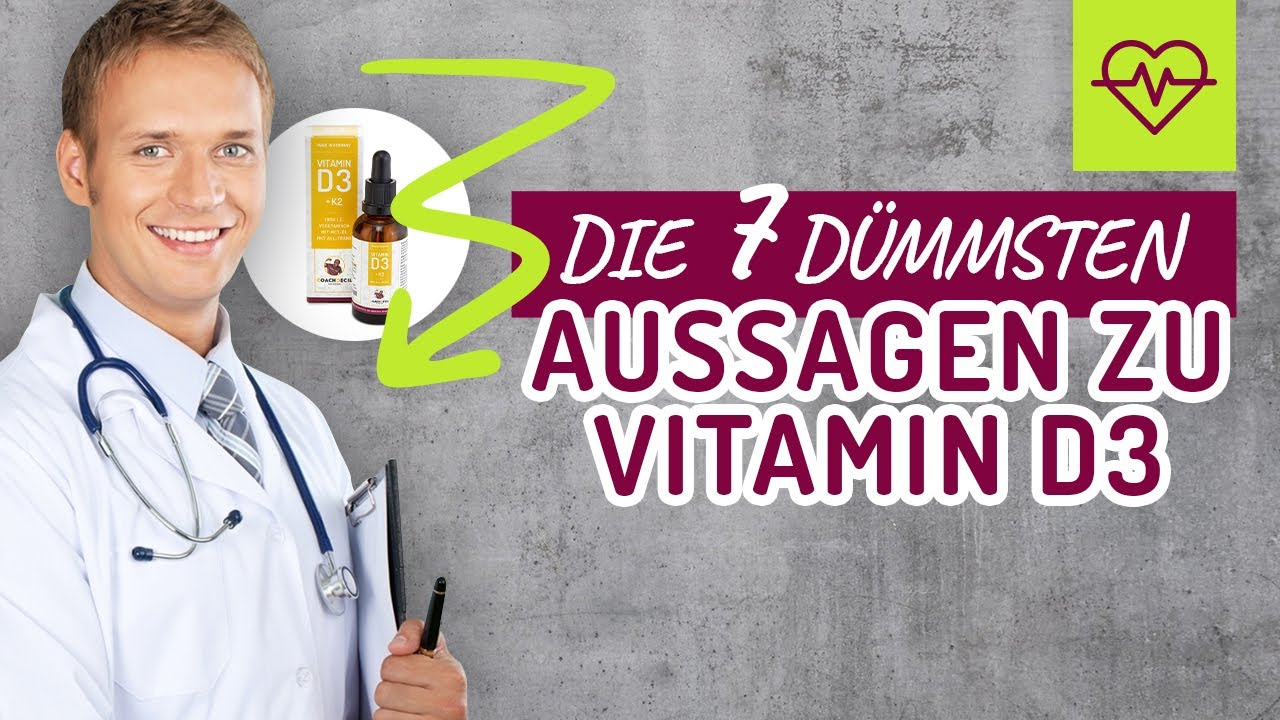 save up to 80% buy cheap reasonable price VITAMIN D - die 7 DÜMMSTEN Aussagen deines ARZTES 👩🏼⚕️🤦🏽♂️ Vit D  WICHTIG❓