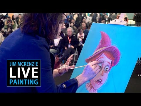 Jim McKenzie LIVE PAINTING - Shanghai Toy Show 2018 China - The Scarecrow