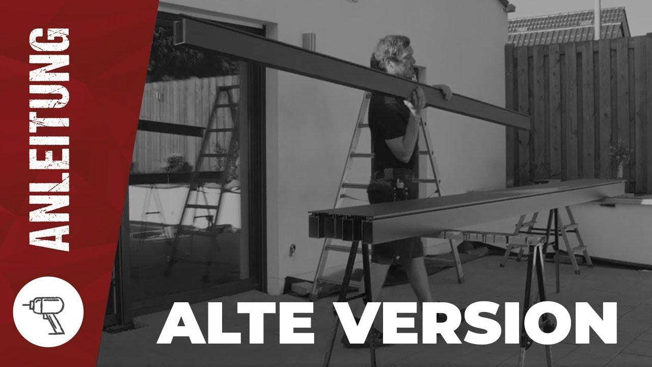 Terrassenuberdachung Aus Aluminium Bauen I Www Steda Online De Youtube