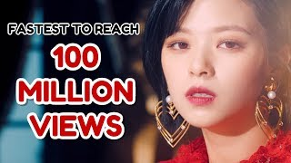 FASTEST K-POP GROUP MV TO REACH 100 MILLION VIEWS