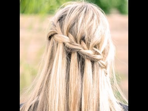 How to do a Waterfall braid & How to Finish it