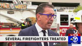 FDNY briefing on parking garage fire at Kings Plaza