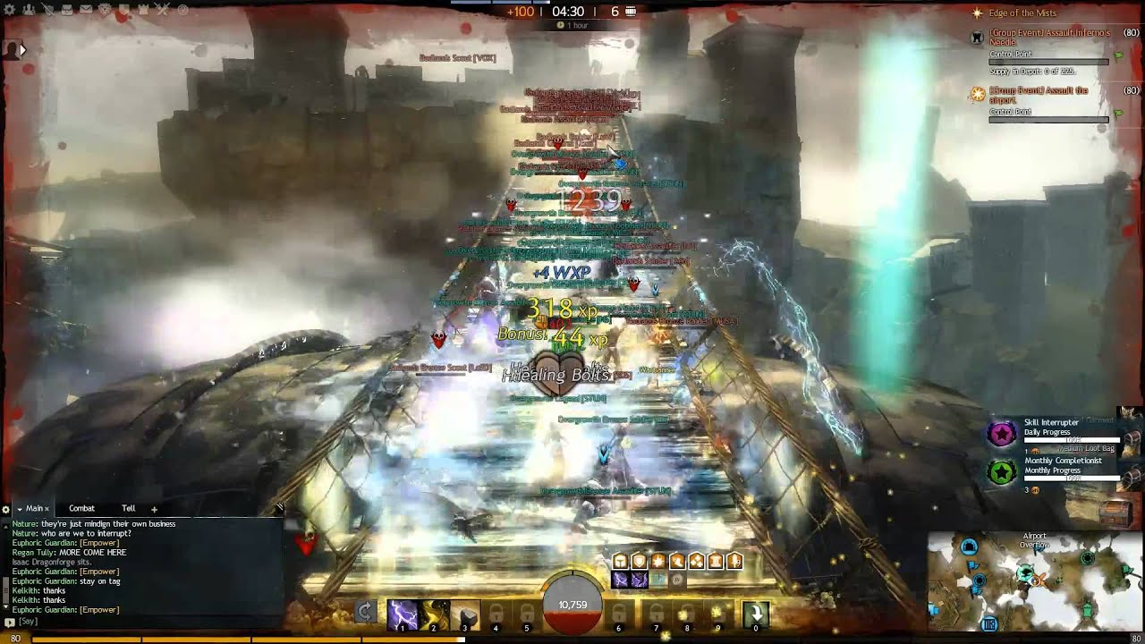 Guild Wars 2 Edge Of The Mists 3 Way Zerg Battle Wvw Part 2 Youtube