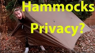 HAMMOCKS  -  Privacy?  -  When changing clothes.