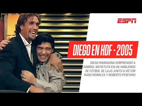 ¡Joya imperdible! #Maradona en #HDF 2005 con #Batistuta, #Perfumo y Víctor Hugo - PROGRAMA COMPLETO - ESPN Fans