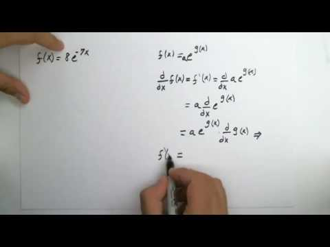 How to properly use the chain rule with derivative of e