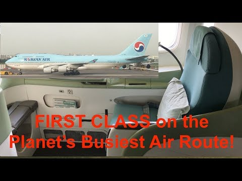 Korean Air 747 Business Class and 777 First Class Seoul to Jeju