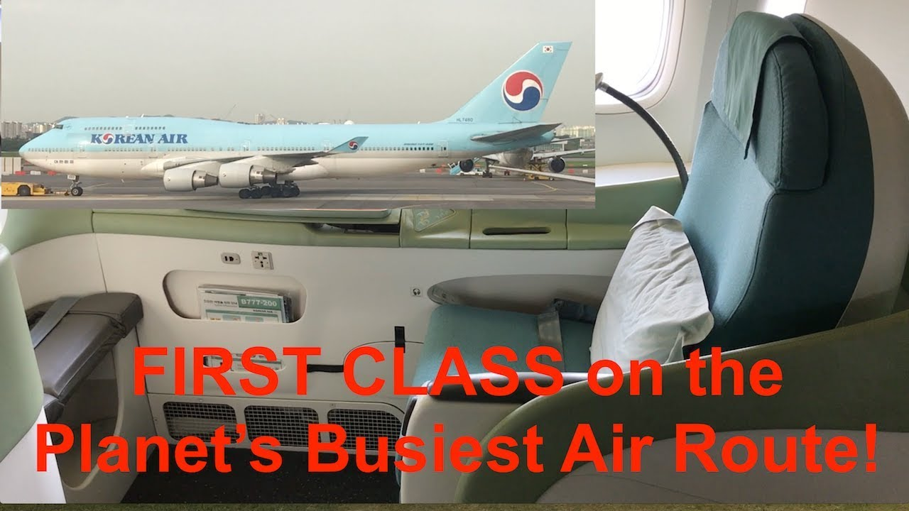Korean Air 747 Business Class And 777 First Class Seoul To Jeju Youtube