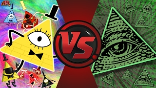 BILL CIPHER vs ILLUMINATI! (Gravity Falls vs MLG) Cartoon Fight Club Episode 159!