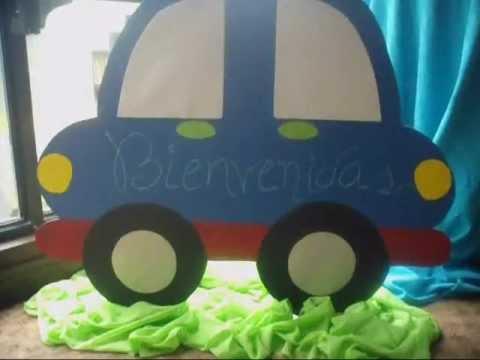 Manos artisticas anriocs decoracion carrito baby shower for Carritos con ruedas para cocina