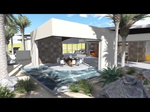 Modern Architecture MEGA Indoor Outdoor Desert Estate Home - New HD VIDEO