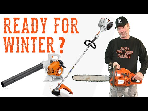 How To Winterize A Chainsaw, Weedeater, Blower Or Trimmer