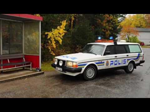 Evolution of Volvo Police cars - Swedish style
