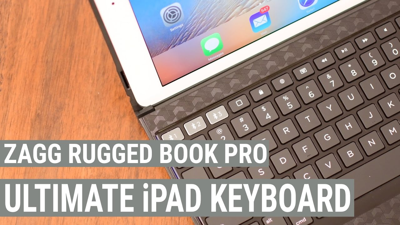Zagg Rugged Book Pro Backlit Keyboard Case For Ipad Pro