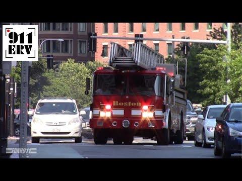 Boston Fire Ladder 17 Responding - YouTube