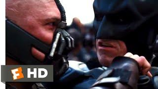 The dark knight rises - batman vs. bane: (christian bale) faces off against bane (tom hardy) in streets of gotham city.buy movie: https://www....