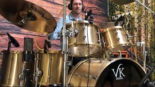 5 Drummers vs 300lbs Cast Bronze Drum Kit