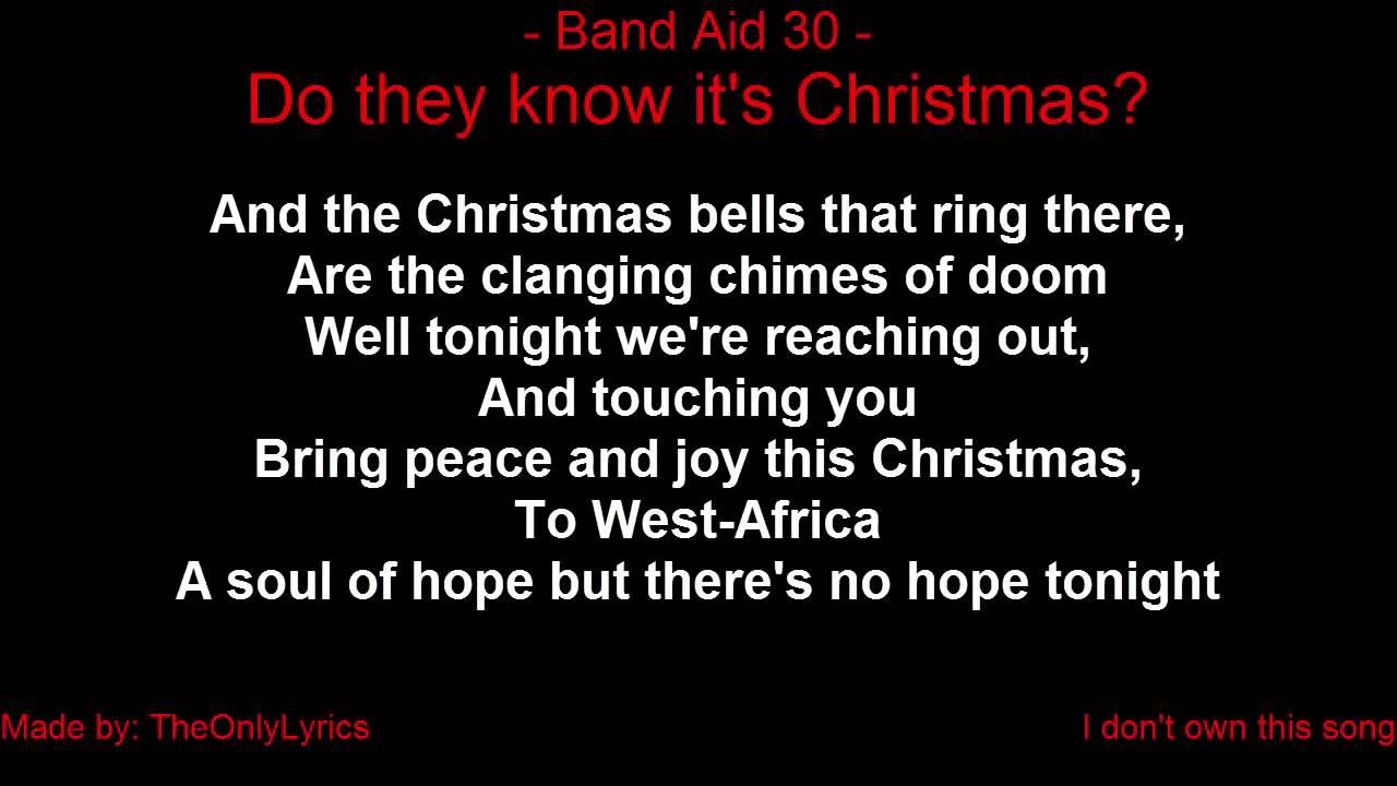 Do They Know Its Christmas Lyrics.Band Aid 30 Do They Know It S Christmas Time 2014 With Lyrics