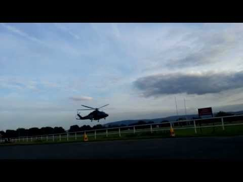 Irish Air Force Helicopter Leaves Phoenix Park, Dublin 2015.08.30