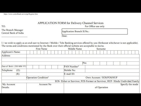 how to fill central bank customer information form