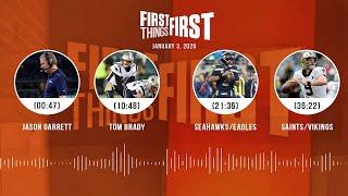 Jason Garrett, Tom Brady, Seahawks/Eagles, Saints/Vikings | FIRST THINGS FIRST Audio Podcast