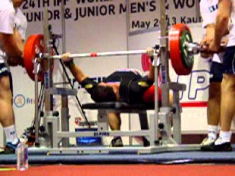Richard Pena (USA) 3.attempt 197,5 kg - World Benchpress Championships 2013 juniors m -93 kg