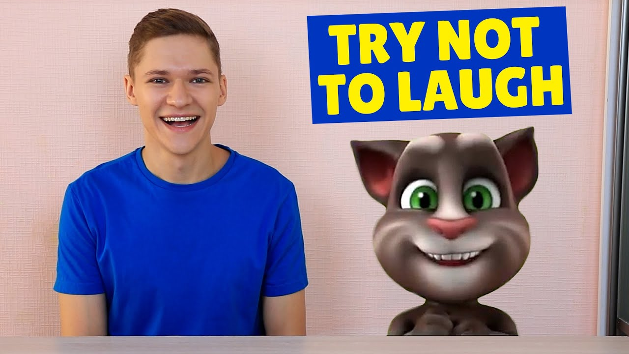 Try not to Laugh Challenge with Talking Tom in Real Life