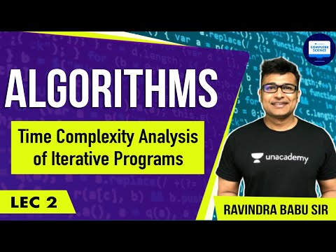 Algorithms lecture 2 -- Time complexity Analysis of iterativ