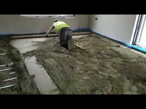 how to install floor screeding tel 01926 679603 nationwide floor screeding youtube. Black Bedroom Furniture Sets. Home Design Ideas