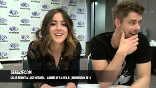 Chloe Bennet & Luke Mitchell Agents of SHIELD WonderCon 2016 Interview