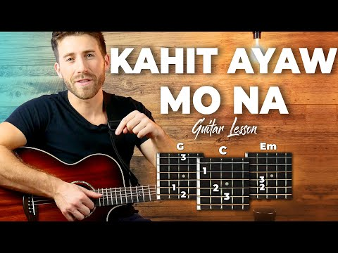 Kahit Ayaw Mo Na Guitar Tutorial (This Band) Easy Chords Guitar Lesson