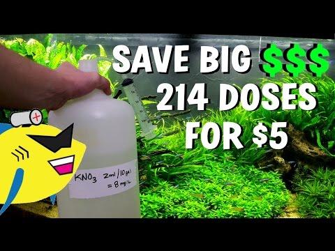 SAVE BIG $$$ | DIY Planted Aquarium Fertilizer – KNO3 Solution