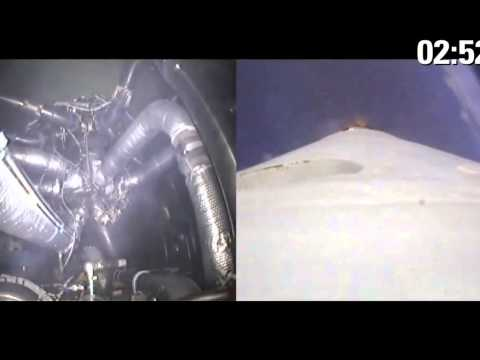 Rocket Thrust in the Vacuum of Space - SpaceX Dragon Launch