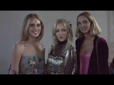 Backstage at Alberta Ferretti Fashion Show SS 17
