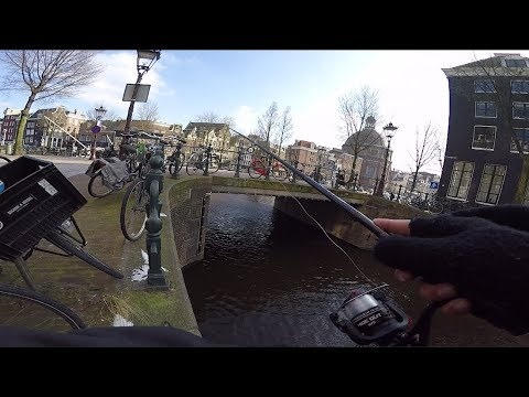 Fishing In Downtown Amsterdam!