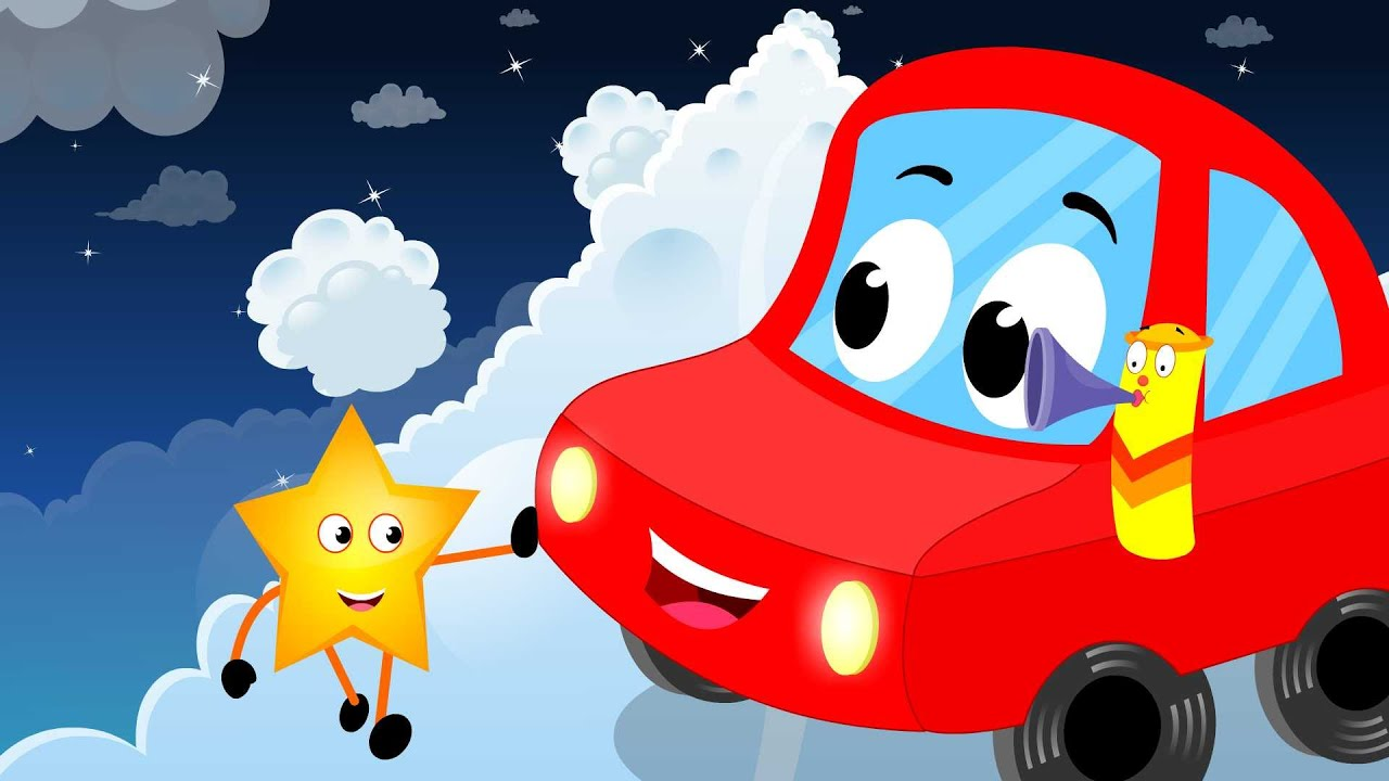 little red car rhymes little red car wheels on the car kids nursery song wheels on the bus