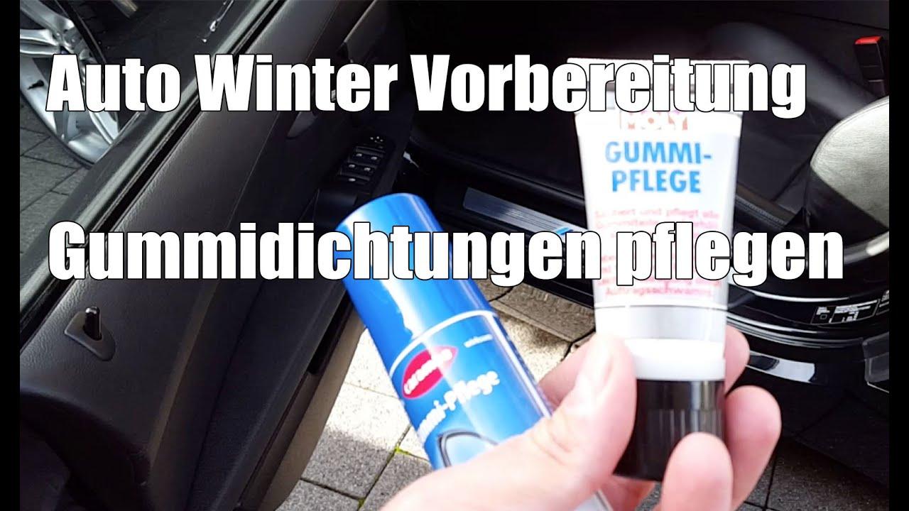 Auto Winter Vorbereitung Gummidichtungen Pflegen Insbesondere Im